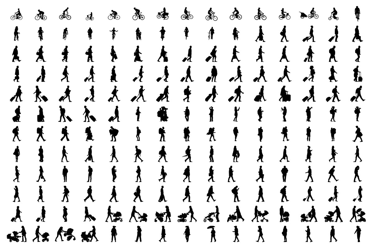 184 objects in different positions.