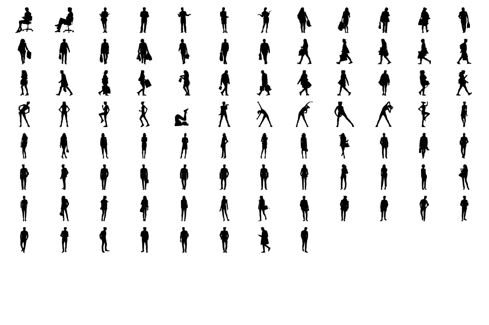 92 objects in different positions.