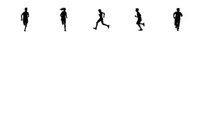 Elementary Students Running