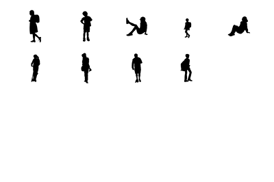 9 objects in different positions.