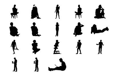18 objects in different positions.