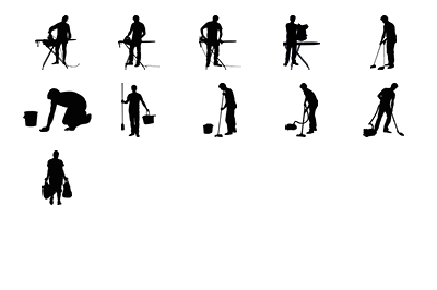 11 objects in different positions.