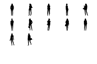 12 objects in different positions.