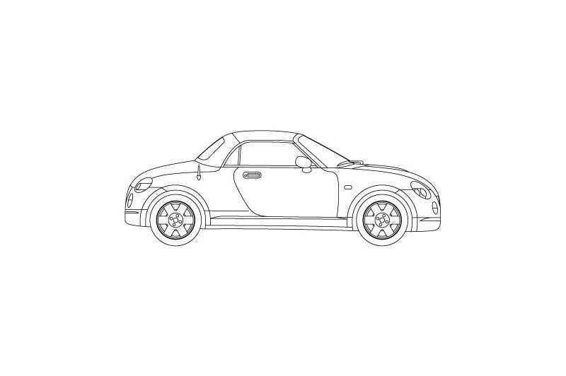 Daihatsu Copen - see other views on pdf overview