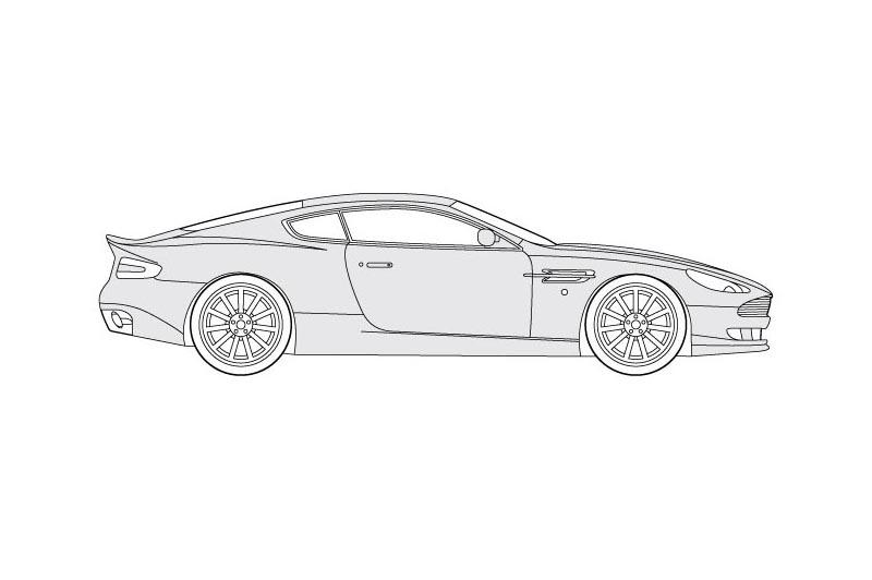 Aston Martin DB9 - see other views on PDF overview