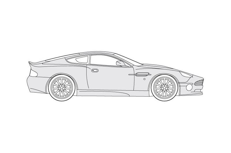 Aston Martin Vanquish - see other views on PDF overview