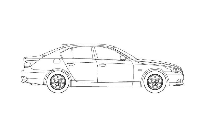 BMW 5 Limousine - see other views on PDF overview