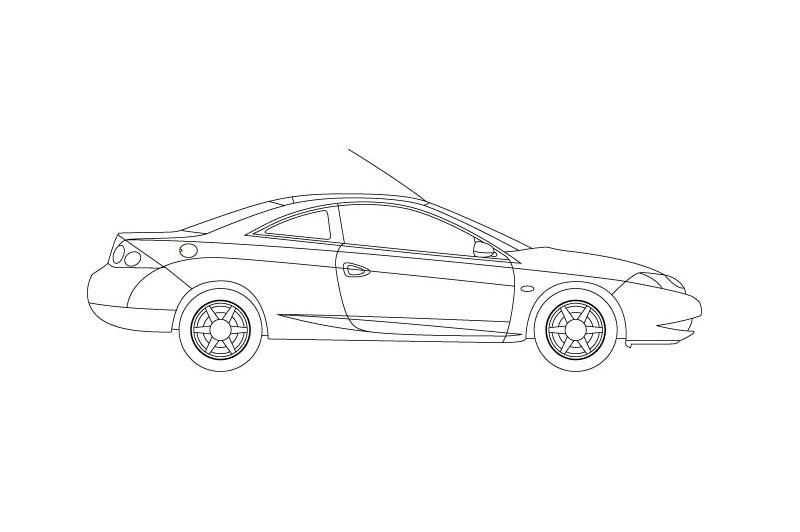 Ford Cougar - see other views on PDF overview