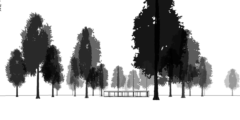 Complex depth effects are possible by overriding each tree or groups of trees.