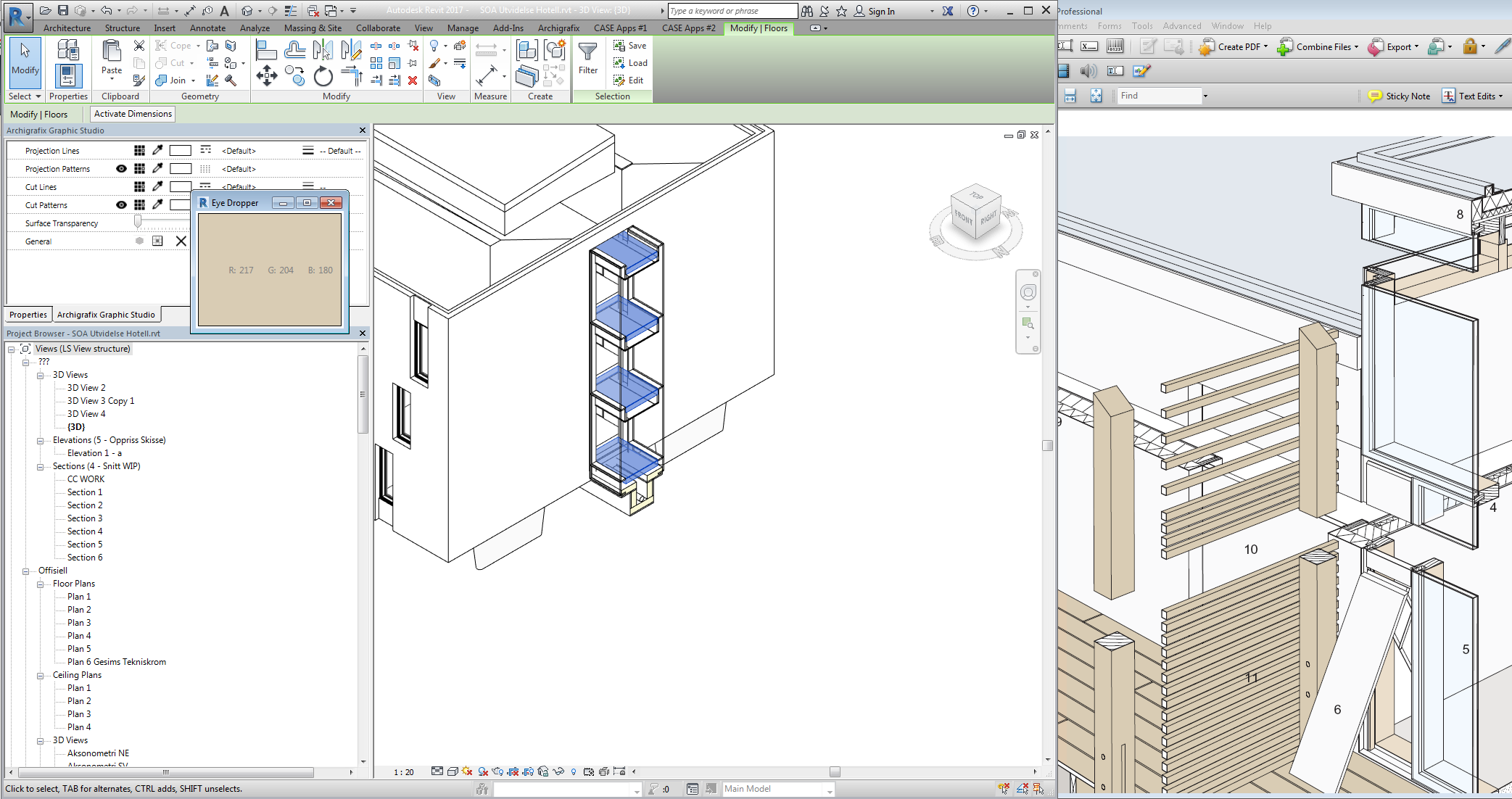Use the eyedropper to pick colors inside Revit or from other windows. Supports multi-monitor.
