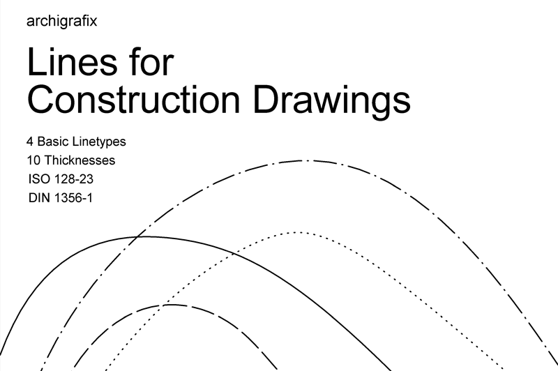 Lines for construction drawings