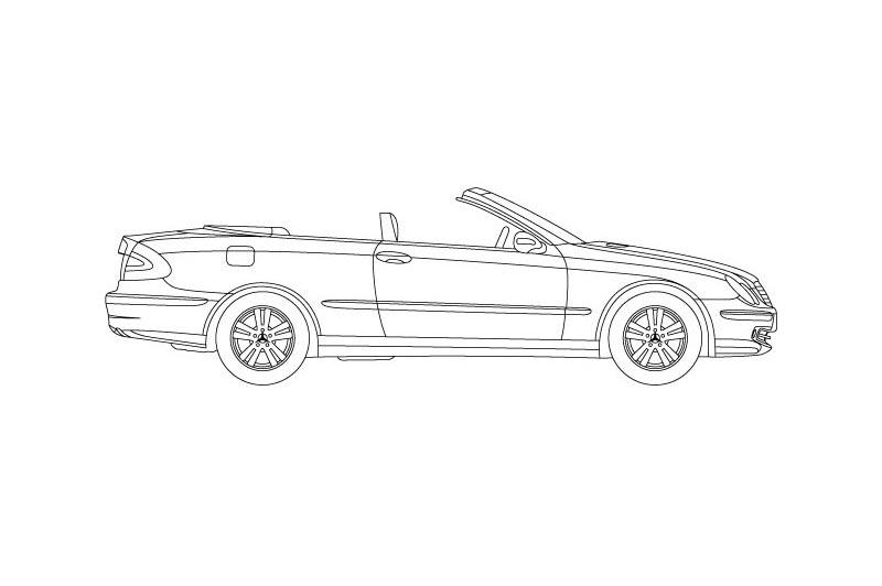 Mercedes CLK Cabrio - see other views on PDF overview