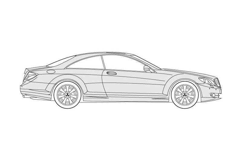 Mercedes CL Coupe - see other views on PDF overview
