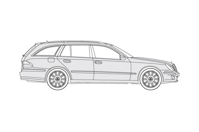 Mercedes E Class Stationwagon - see other views on PDF overview