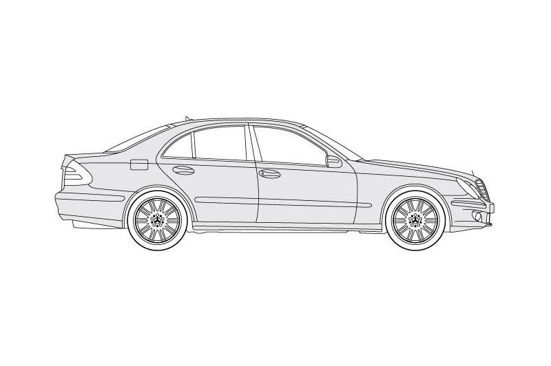 Mercedes E Class - see other views on PDF overview