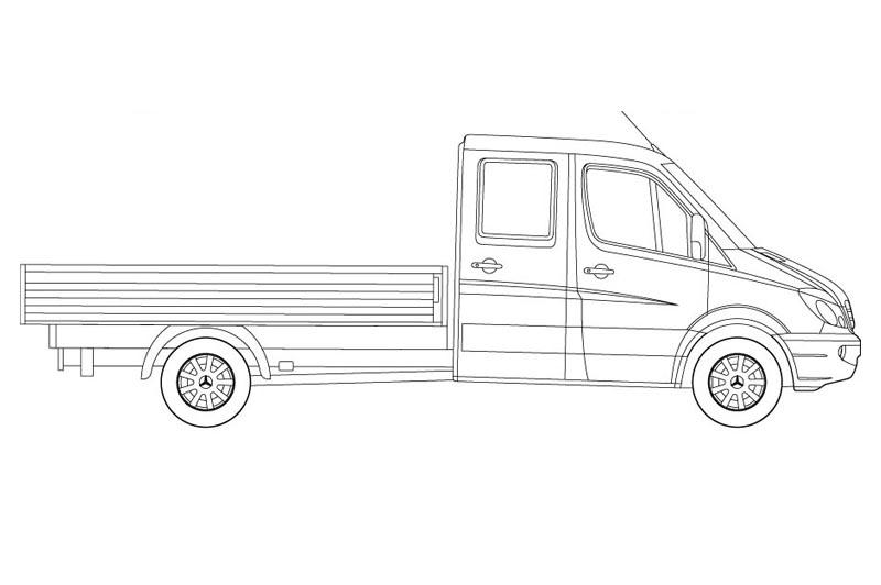 Mercedes Sprinter LT - see other views on the pdf overview