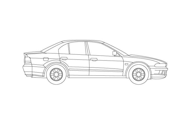 Mitsubishi Galant - see other views on PDF overview