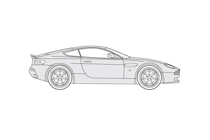 Aston Martin V8 Vantage - se other view on pdf overview