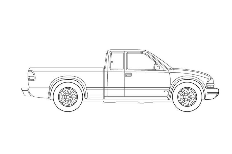 Chevrolet S10 Side View - See pdf overview for other views