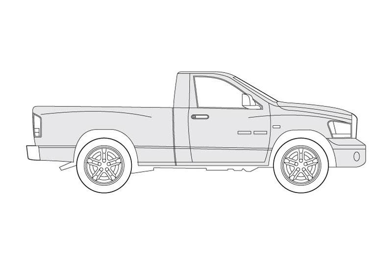 Dodge RAM Side View - See pdf overview for other views