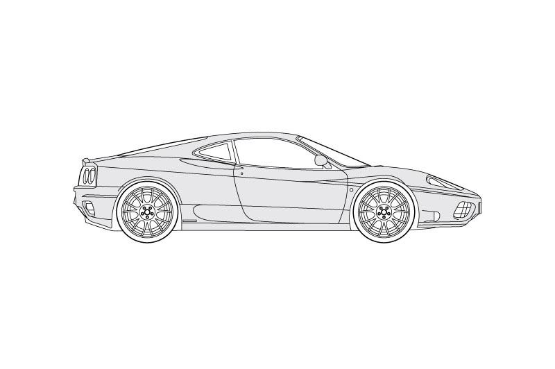 Ferrari F360 - see other views on pdf overview