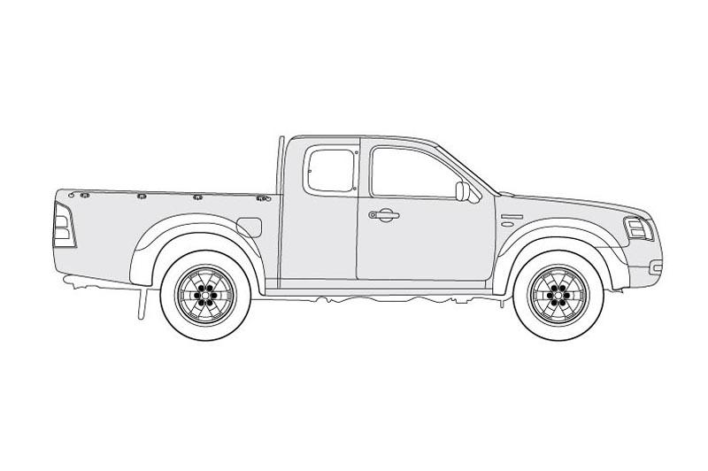 Ford Ranger XL - Side View - See pdf overview for other views