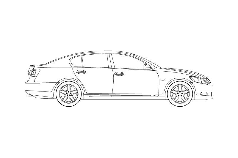 Lexus GS300 - for other views see product overview