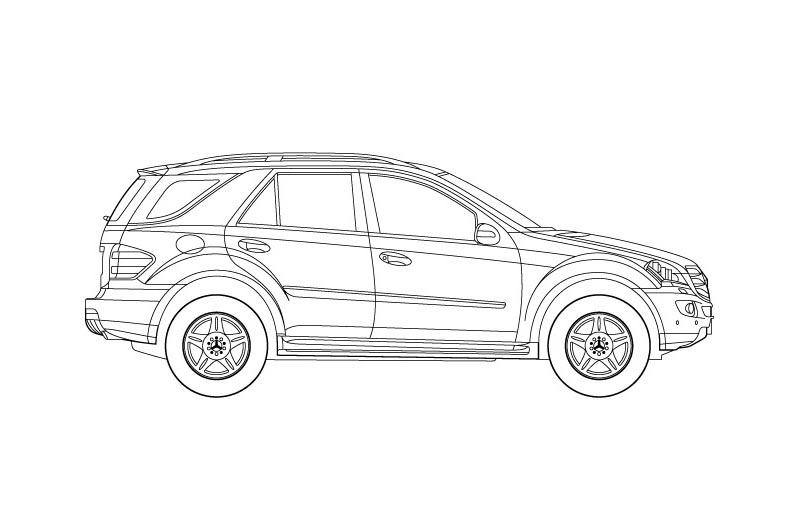 Mercedes Benz M Class - see pdf overview for other views