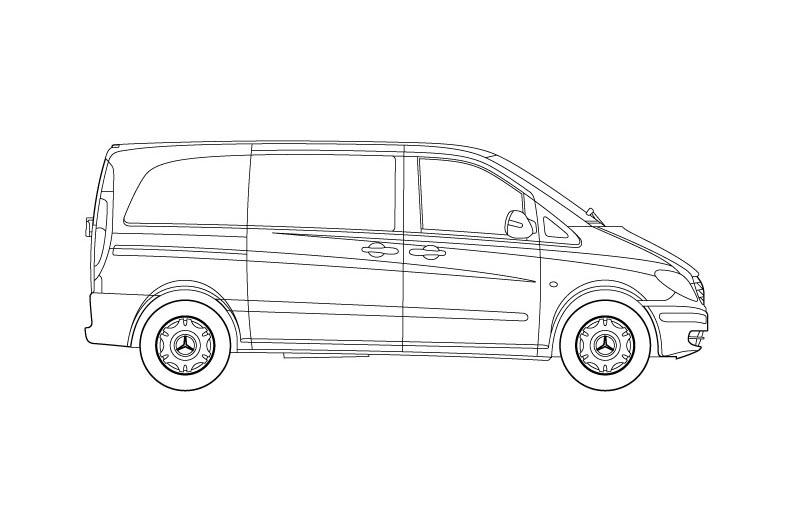 Mercedes Vito - see pdf overview for other views