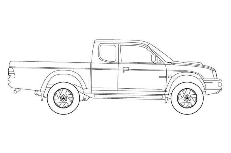 Mitsubishi L200 Side View - See pdf overview for other views