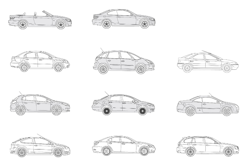 Revit Medium Cars