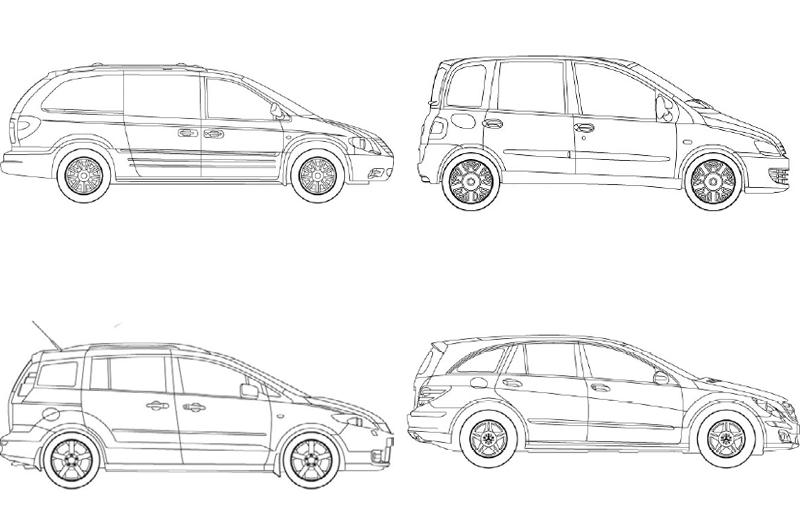Revit MPV Cars