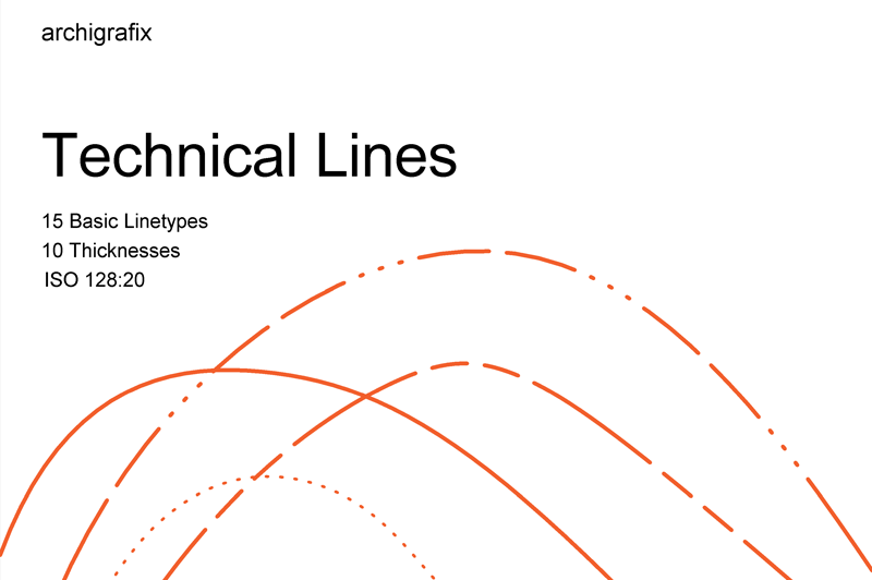 technical lines for revit iso 128-20