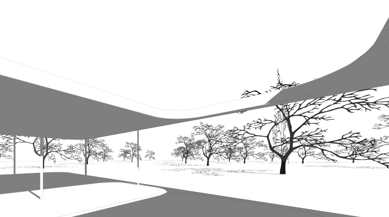 Trees cast shadows over terrain and other objects. Also in elevation and plan drawings.Trees cast shadows over terrain and other objects. Also in elevation and plan drawings.